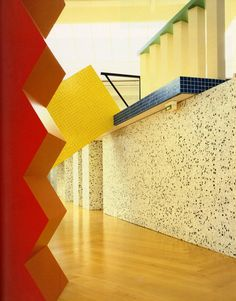 Interior of Esprit headquarters in Dusseldorf, designed by Ettore Sottsass | sightunseen.com