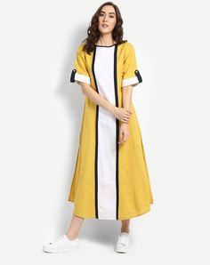 #Yellow Daffodil #Slit #Maxi #Dress #fashion #style #women
