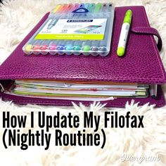 #ShareIG Just Uploaded A Video On YouTube On How I Update My Filofax...I Love Making These Videos Please Leave Suggestions Below Link In My Profile