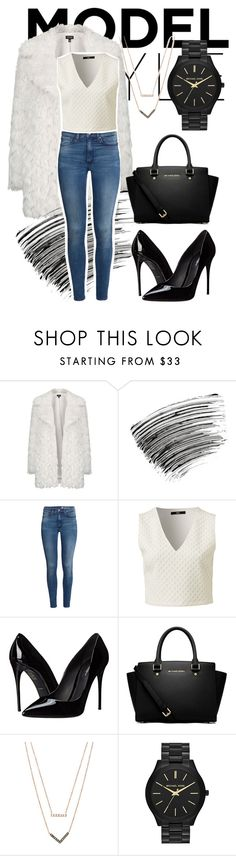 """""""Skinny Jeans & White"""" by reemarie on Polyvore featuring Topshop, Bobbi Brown Cosmetics, H&M, Dolce&Gabbana, MICHAEL Michael Kors, Michael Kors, white, skinnyjeans and contestentry"""
