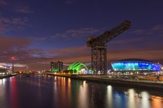 Designed by Foster + Partners, the Hydro creates a new entertainment destination within the redevelopment of Glasgow's former docks.