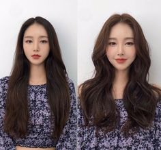 • 3) Hair만으로도 다른사람이~? 헤어스타일 전/후 : 네이버 블로그 Korean Hairstyles Women, Asian Men Hairstyle, Modern Hairstyles, Straight Hairstyles, Japanese Hairstyles, Asian Hairstyles, Korean Haircut Long, Korean Long Hair, How To Grow Natural Hair