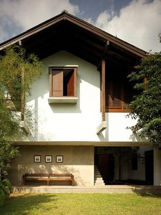 Japan House Design, Tropical House Design, Village House Design, Small House Design, Interior Exterior, Exterior Design, Minimal House Design, 3d Home, Dream House Exterior