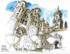 Málaga, Cathedral by Luis Ruiz Padrón