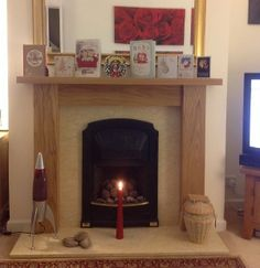 A picture of a Straight Oak Fire Surround that we made for Mr Marsh and available from our website for £345.00 www.oakfiresurrounds.co.uk