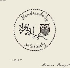 Hey, I found this really awesome Etsy listing at https://www.etsy.com/listing/175115292/cute-owl-rubber-stamp-custom-logo-stamp