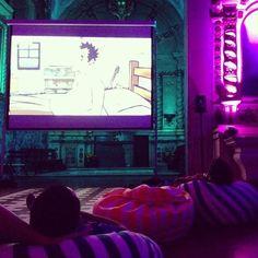 Watching movies in a church #bangawards