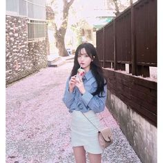 Ideas Hair Color Asian Blue Korean Fashion For 2019 K Fashion, Ulzzang Fashion, Asian Fashion, Fashion Outfits, Park Seul, Kim Na Hee, Mode Ulzzang, Pretty Korean Girls, Uzzlang Girl