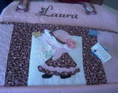 Bolsa Maternidade Personalizada Laura  www.atelierdocespanos.elo7.com.br