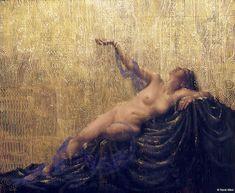 "René Milot, DANAE Strauss's Die Liebe der ""Danae"" CD cover oil on canvas"