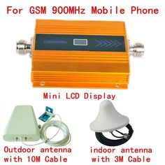 ==> [Free Shipping] Buy Best Full Set 900MHz GSM Repeater Cell Phone Signal Booster GSM signal amplifier  Mobile Phone Signal Repeater amplifie LCD Display Online with LOWEST Price | 32804079477