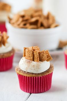 Cinnamon Toast Crunch Cupcakes - Confessions of a Cookbook Queen