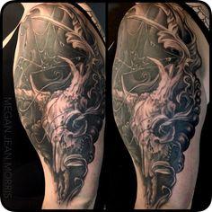 Freehand Deer Skull- By Megan Jean Morris - Imgur