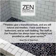 Redoing your kitchen or bathroom? Let Zen Paradise help with its pebble tile mosaics. Turn your ordinary space into an exotic destination with imported mosaic flooring. From pool tiles to shower wall tiles. Check out our downloadable catalog at ZenParadise.net or call 805-324-4940 to visit a showroom.  #pebble #tile #mosaics