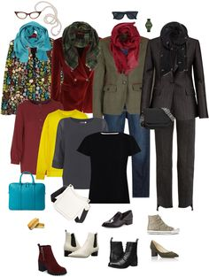 Awesome color palette! Love the blazer/t-shirt/jeans and dramatic scarf combo. Ensemble: Fall Blazer, Jeans & Scarf