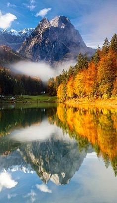 Germany Travel Inspiration - Bavaria in Germany has great autumn colors, and a lot of good walking and hiking trails to see them on. Lake Riessersee in Bavaria is a particularly scenic place to see the seasonal changes in the trees. Places To Travel, Places To See, Travel Destinations, Places Around The World, Around The Worlds, Beautiful World, Beautiful Places, Amazing Places, Beautiful Scenery