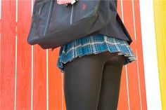 Sexy Outfits, Girl Outfits, School Uniform Outfits, School Girl Dress, Girls In Mini Skirts, Stockings Legs, Japan Girl, Black Tights, Beautiful Asian Girls