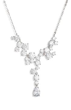 online shopping for Nordstrom Cubic Zirconia Cluster Necklace from top store. See new offer for Nordstrom Cubic Zirconia Cluster Necklace Coin Pendant Necklace, Cluster Necklace, Shell Pendant, Fashion Necklace, Fashion Jewelry, Women Jewelry, Crystal Bracelets, Crystal Necklace, Teardrop Earrings