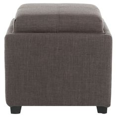 Dominic Storage Ottoman in Charcoal