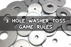 Official 3 Hole Washer Toss Game RulesCornholeMart