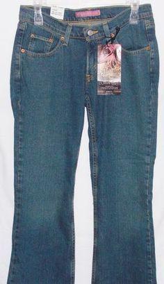 New Levis 528 Size 9 Medium Curvy Boot Cut Jean Stretch Low Front Juniors Levi