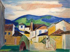 Mario Zanini Painter | Paisagem com ponte