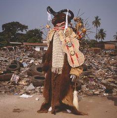 © Phyllis Galembo. Water Buffalo Devil, Freetown, Sierra Leone 2008.