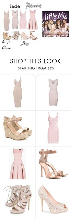 """""""Little Mix"""" by aggi17188 ❤ liked on Polyvore featuring Hervé Léger, BCBGMAXAZRIA, Gianvito Rossi, Carvela, Lauren Lorraine and music"""