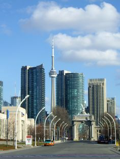 .~The Princes Gate, with the CN Tower in the background...Toronto, Ontario, Canada~. @adeleburgess