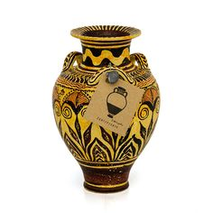 Take Greek history home! Hand made Greek vase from Minoan period. Visit our site www. Knossos Palace, Greek History, Minoan, Bronze Age, Crete, Ancient Greek, Fresco, Civilization, Terracotta