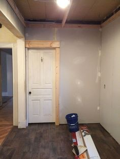 How+to+Build+a+Wood+Ceiling--built a frame of 2X4's all around the top of the room