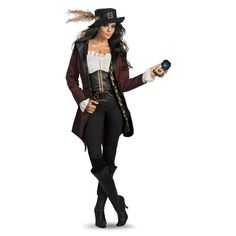 Angelica Pirates of the Caribbean Costume ($110) ❤ liked on Polyvore featuring…
