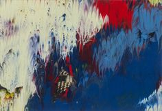 Gerhard Richter - 5.11.08, 2008 10 cm x 15 cm, Lacquer on colour photograph