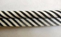 XXL Black and White Stripe Piping Welting BTY