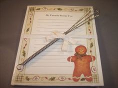 Gingerbread Man Recipe Cards with Wisk Man Food, Gingerbread Man, Recipe Cards, Recipes, Ebay, Ripped Recipes, Cooking Recipes, Gingerbread Man Cookies