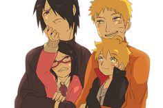 asuma y kurenai pequeños Asuma Y Kurenai, Yamanaka Inojin, Boruto And Sarada, Sasuke X Naruto, Naruto Art, Naruto Shippuden, Hinata Hyuga, Naruhina, Naruto Family