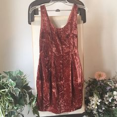 ❗️LAST CHANCE❗️Rachel Roy Velvet Crushed Dress In like new condition! Creates a vintage inspired outfit! True to size. 78% rayon, 33% nylon. Scoop neckline and pockets. Side zipper. Shoulder to hem: approx 29 inches. Cute dress for any season and festival season!) Photo courtesy of oneturnkill.com (blogger) ❗Major Markdown! Don't miss out! ❗️ Rachel Roy Dresses