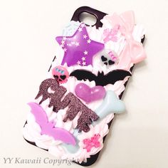 Spooky themed Kawaii Decoden phone case made for the iPhone 4/4s  £15  Halloweeen