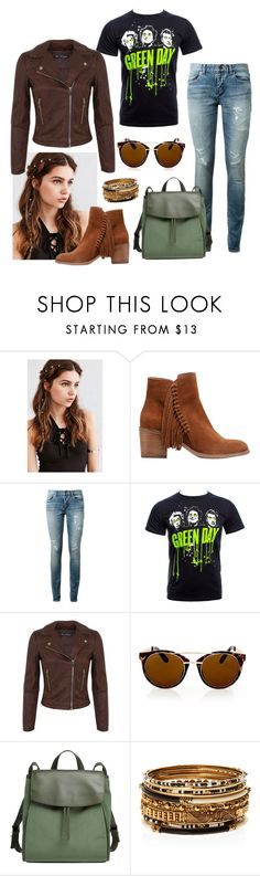 """""""#Rocker"""" by abbiekat ❤ liked on Polyvore featuring REGALROSE, Kenneth Cole Reaction, Yves Saint Laurent, Miss Selfridge, Topshop, Skagen and Amrita Singh"""