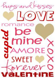 Free RED Valentines Subway Art Print from  lillunacom