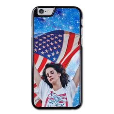 Lana Del Rey American Flag With Galaxy Phonecase For iPhone 6/6S Case
