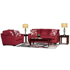 Tara Ruby Upholstered 7-Piece Room Group