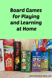 A selection of board games connected to all of the different subjects / areas of learning perfect for home school (home learning) and gameschooling. Learning Shapes, Home Learning, Learning Through Play, Social Skills Games, Math Games, Charades For Kids, Geography Games, Physical Skills, English Games