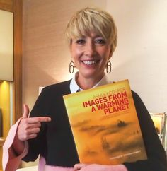 ACTRESS Emma Thompson has joined a growing list of environmental activists backing a high-impact book of pictures by Ambleside photographer… Pixie Bob Hairstyles, Mom Hairstyles, Hairstyle Short, Hairdos, Short Hair Cuts, Short Hair Styles, Helen George, Book Of Changes, Pixie Crop
