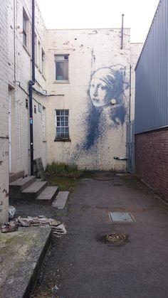 Girl with a pearl earring, Bristol Bristol, Street Art, Teaching, Pearls, Travel, Viajes, Beads, Destinations, Education