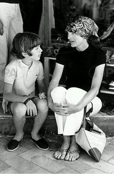 Jacqueline Kennedy and JOhn Jr.