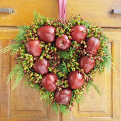apple heart wreath