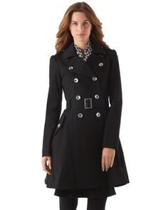 Feminine Flare Trench Coat in  from White House | Black Market on shop.CatalogSpree.com, your personal digital mall.