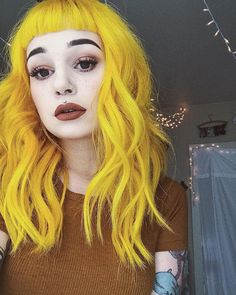 yellow hair color purple, dyed hair и purple Yellow Hair Color, Green Hair, Purple Hair, Hair Colors, Purple Yellow, Dyed Hair Pastel, Pelo Pixie, Coloured Hair, Dye My Hair