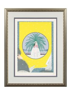 Riviera by Quality Art on Gilt Home  $1749  Limited Edition   Erte (1892 - 1990)  Signed  25x32